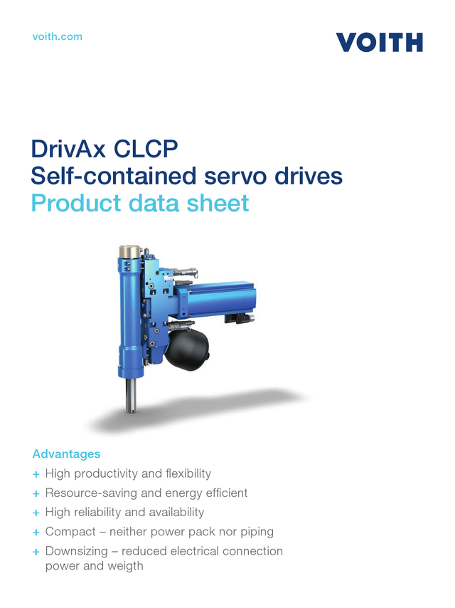Self-contained servo drive CLCP  Technical data sheet