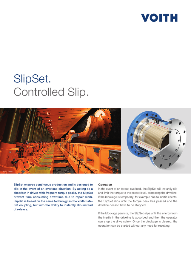Voith SlipSet | Controlled slip