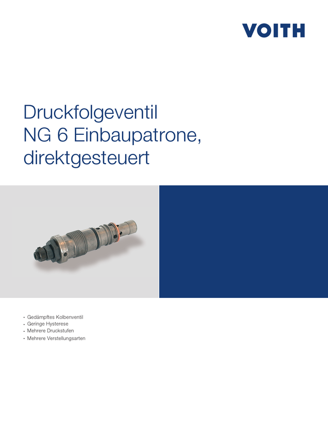 Druckfolgeventil NG 6 Einbaupatrone, direktgesteuert