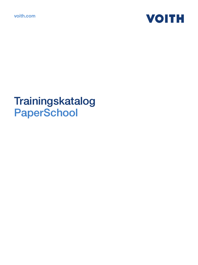Trainingskatalog PaperSchool