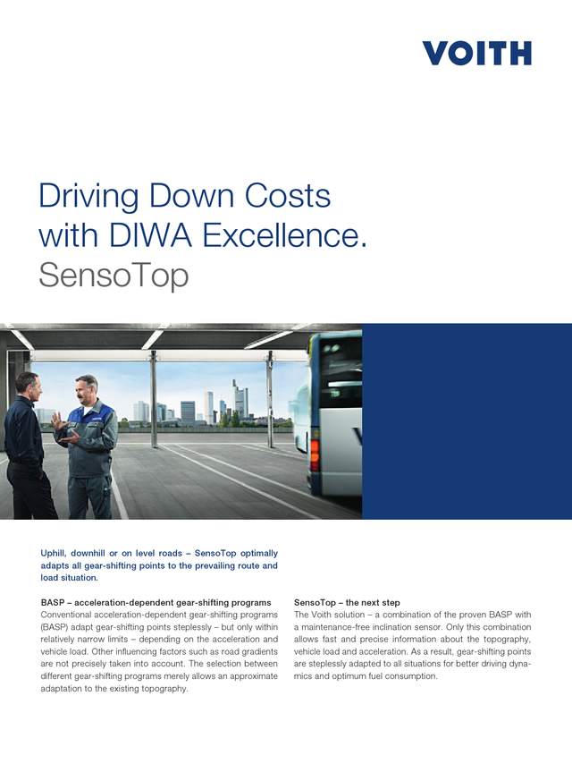 Driving Down Costs with DIWA Excellence. SensoTop
