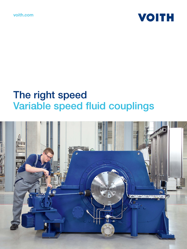 The right speed. Variable speed fluid couplings