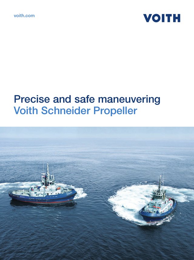 Precise and safe maneuvering. Voith Schneider Propeller