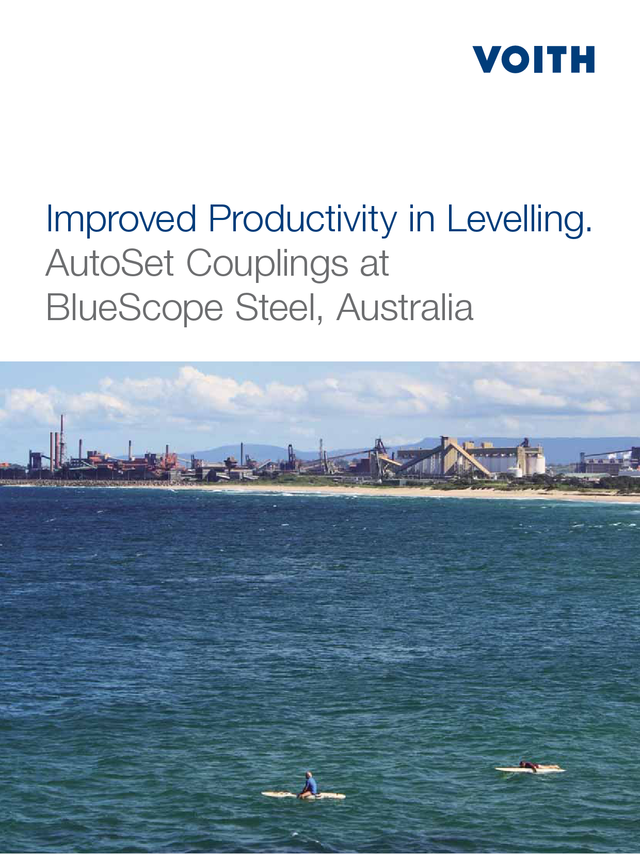 Improved productivity in levelling. AutoSet Couplings at BlueScope Steel, Australia