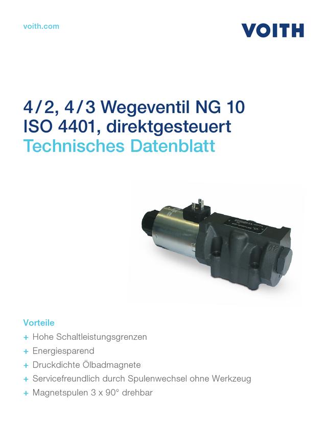 4/2, 4/3 Wegeventil NG 10 ISO 4401, direktgesteuert