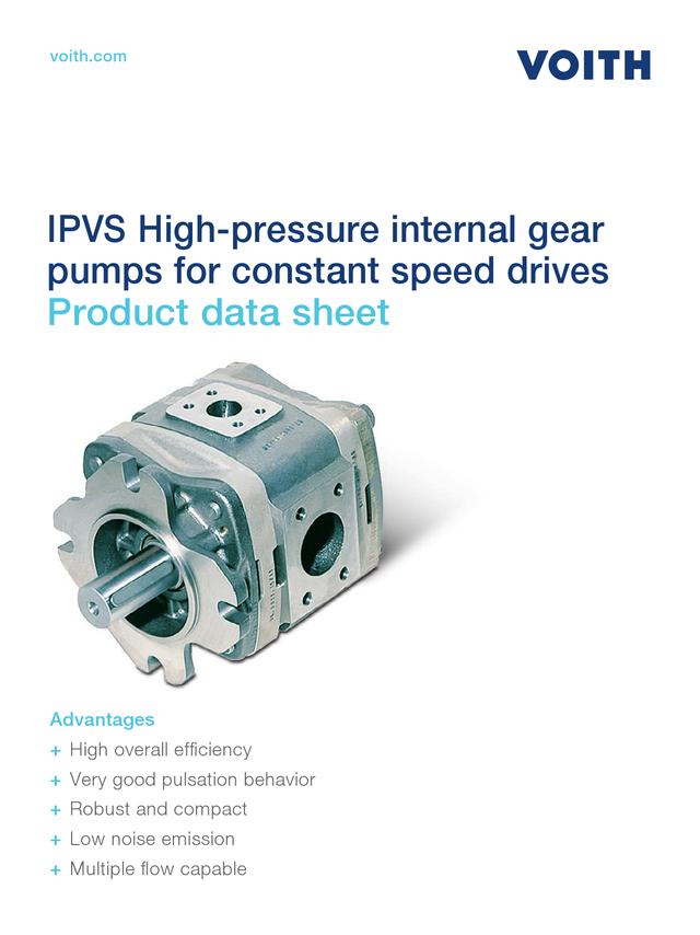 IPVS High-pressure Internal Gear Pumps