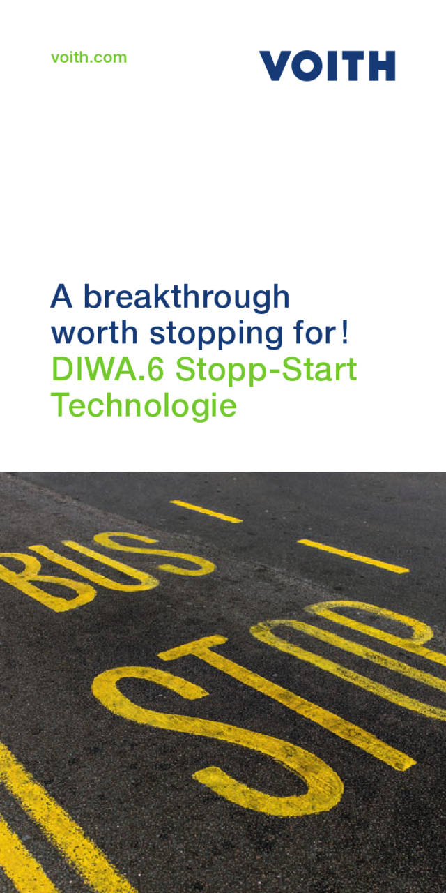 A Breakthrough Worth Stopping For! DIWA.6 Stopp-Start Technologie