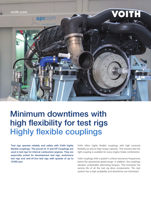 Minimum downtimes with high flexibility for test rigs