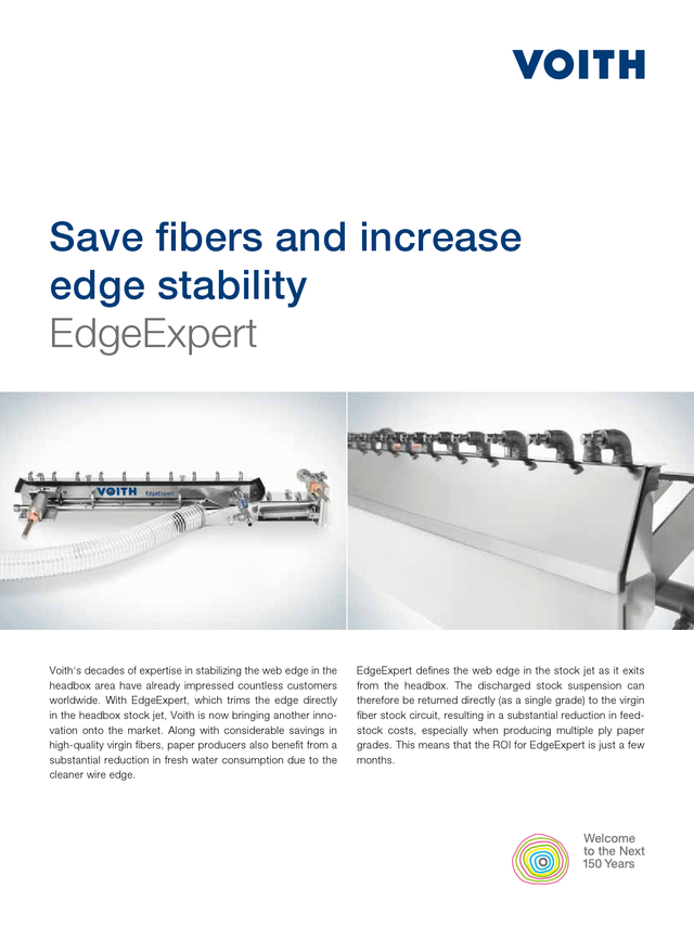 Save fibers and increase edge stability. EdgeExpert