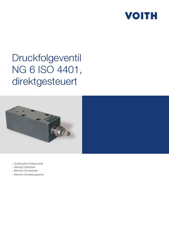 Druckfolgeventil NG 6 ISO 4401, direktgesteuert