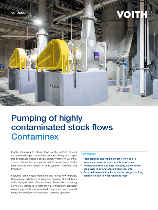 Pumping of highly contaminated stock flows – Contaminex