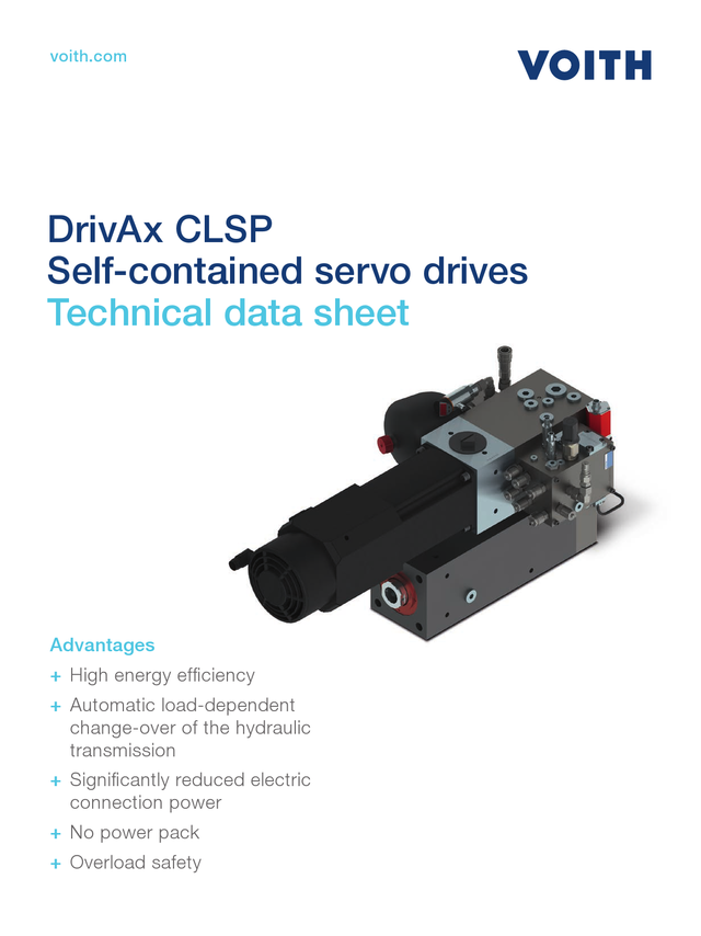 Self contained servo drive CLSP Technical data sheet