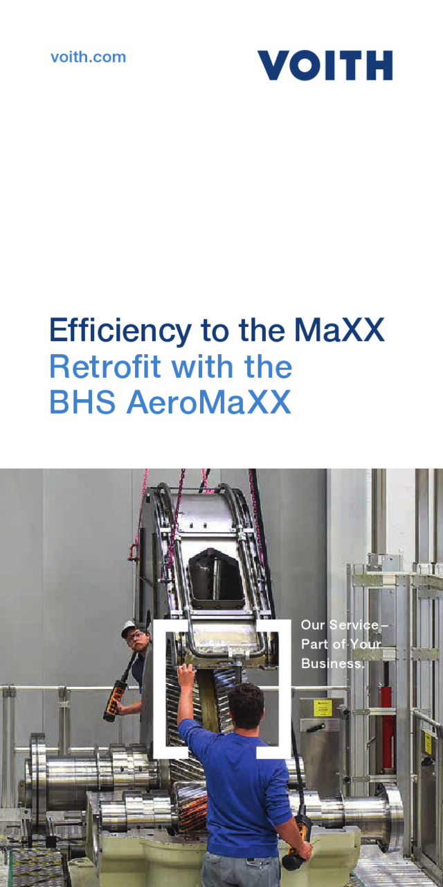 Efficiency improvement made simple  Retrofit with the BHS AeroMaXX