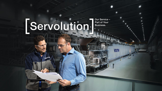 Servolution services for paper industry by Voith