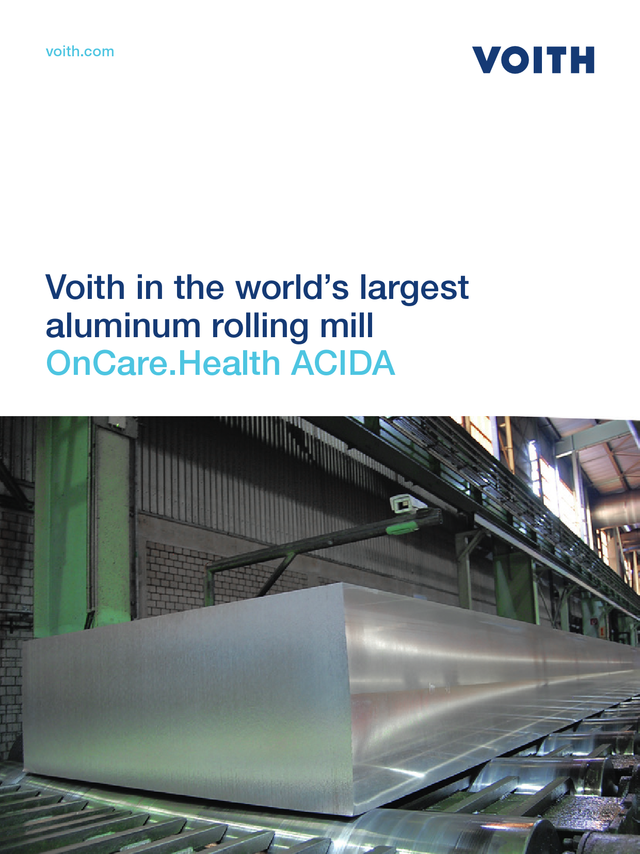 Voith in the world's largest aluminium rolling mill - OnCare.Health ACIDA