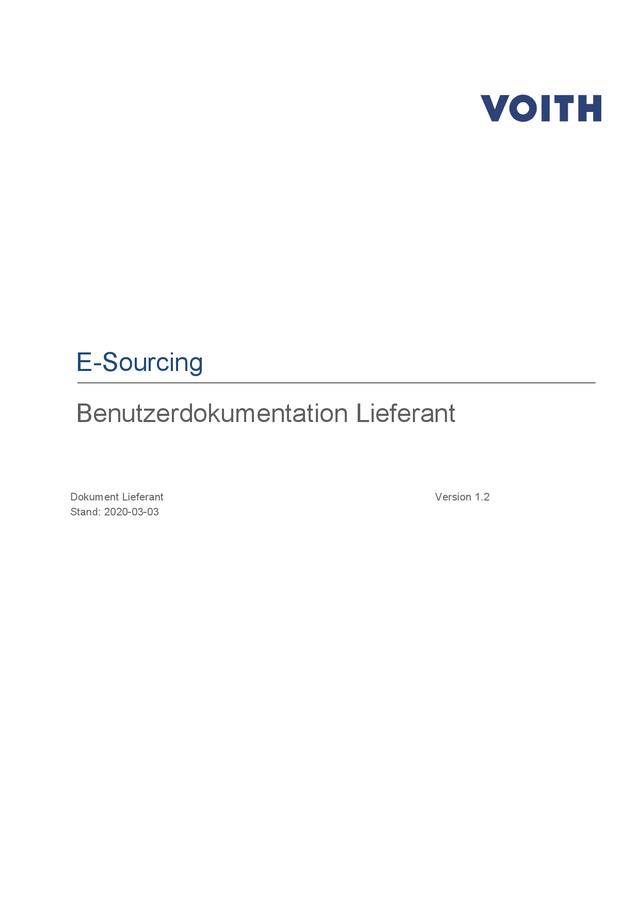 Dokumentation E-Sourcing für Lieferanten