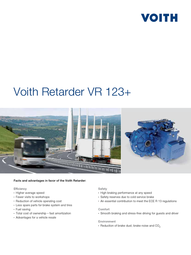Voith Retarder VR 123+