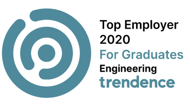 Trendence Award top employer for engineering graduates.