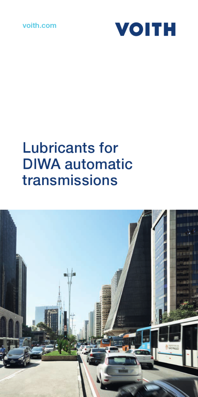Lubricants for DIWA automatic transmissions