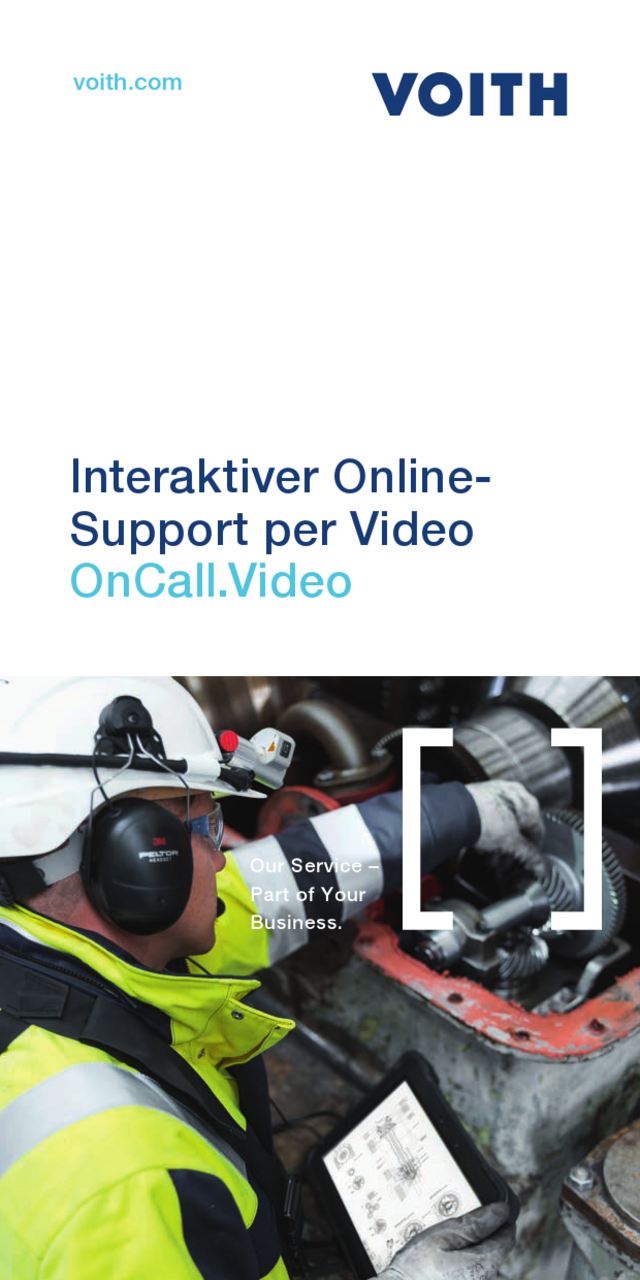 Der Voith-Experte online vor Ort. VOCUS: Interaktion per Video-System