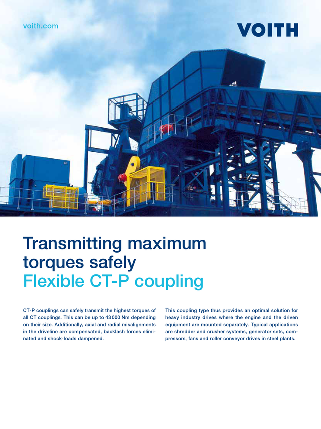 Transmitting maximum torques safely - Flexible CT-P Coupling