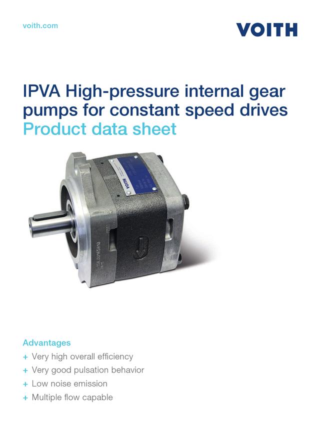 IPVA High-pressure Internal Gear Pumps