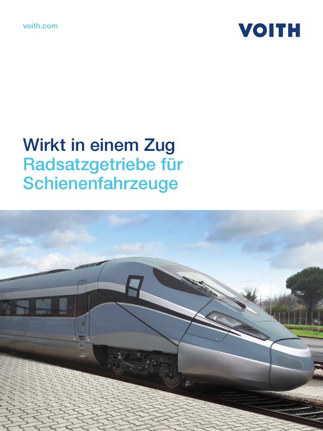 Wirkt in einem Zug Radsatzgetriebe für Schienenfahrzeuge
