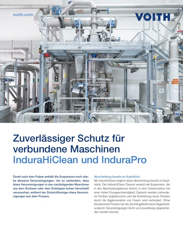 Zuverlässiger Schutz für verbundene Maschinen – InduraHiClean und InduraPro