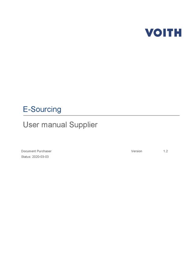 Manual e-sourcing