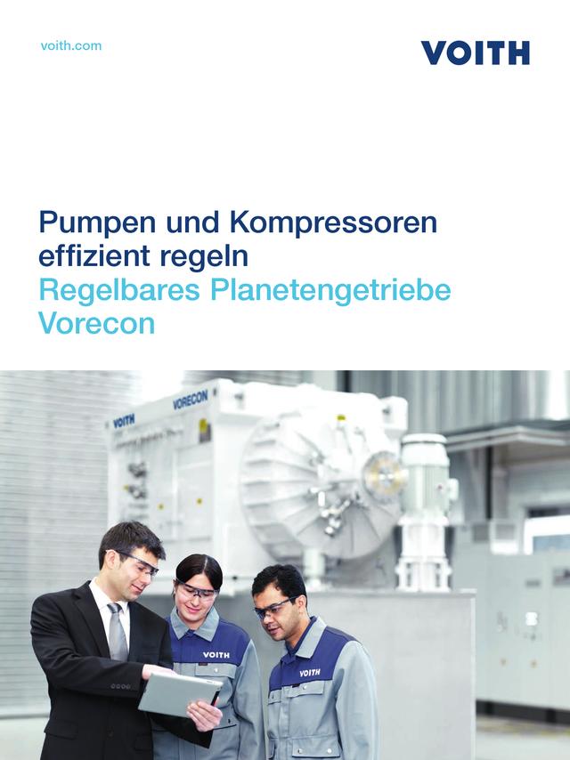 Pumpen und Kompressoren effizient regeln. Regelbares Planetengetriebe Vorecon
