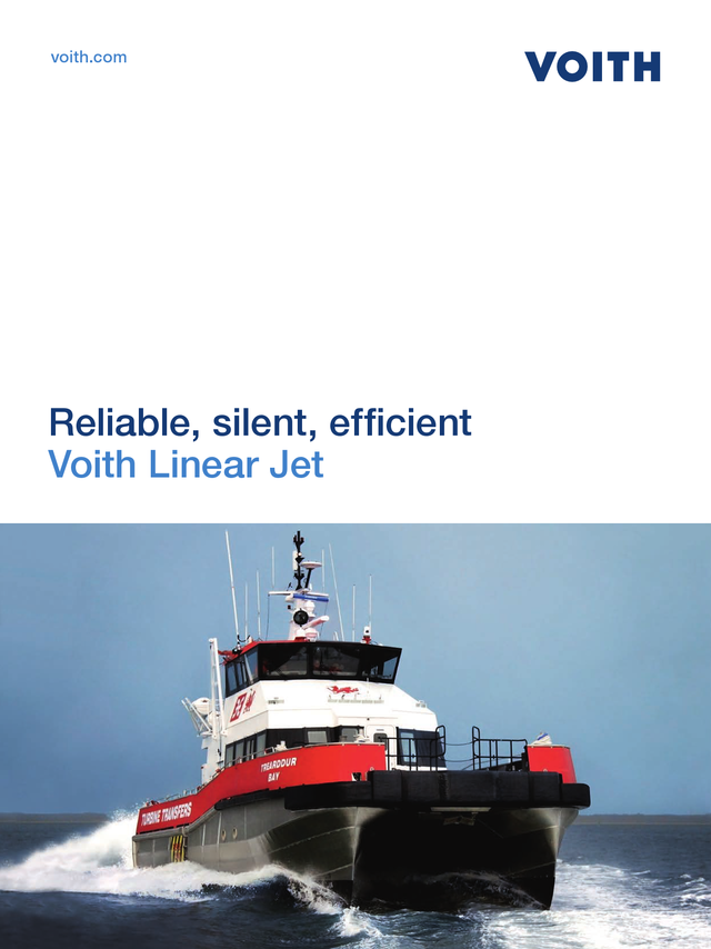 Reliable, silent, efficient. Voith Linear Jet