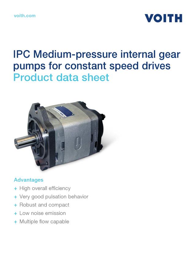 IPC Medium-pressure Internal Gear Pumps