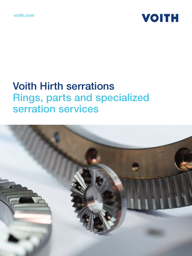 Voith Hirth couplings, standard and custom-made toothed rings