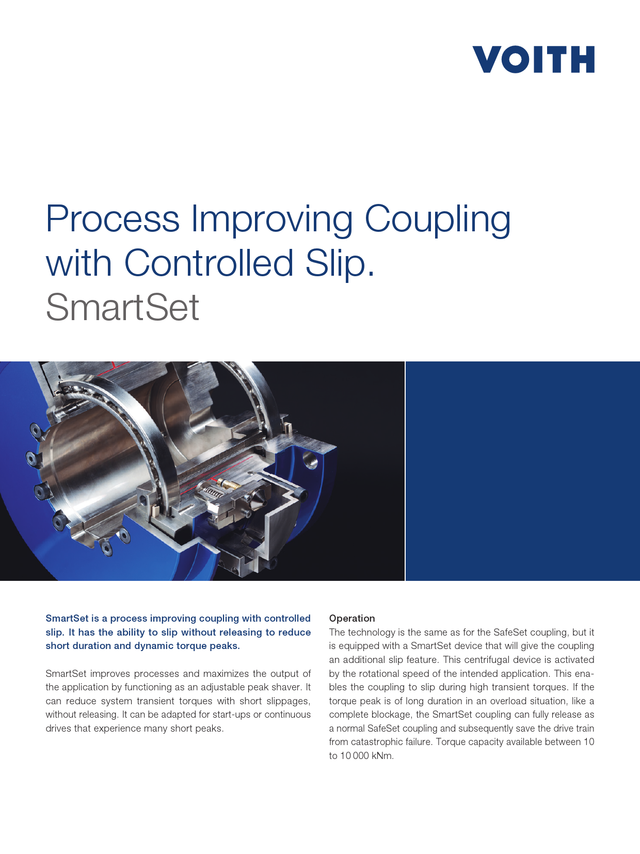 Process improving coupling with controlled slip | SmartSet