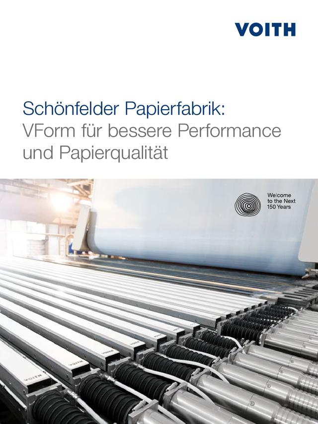 Schönfelder Papierfabrik: VForm für bessere Performance und Papierqualität