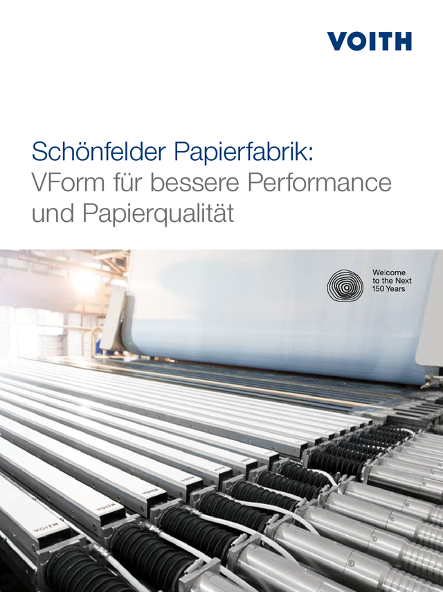 Schönfelder Papierfabrik: VForm for better performance and paper quality