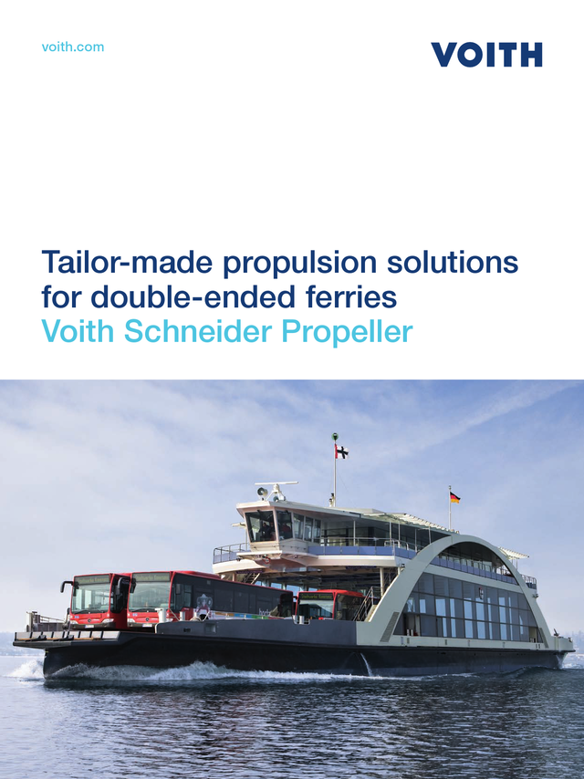 Tailor-made propulsion solutions for double-ended ferries.  Voith Schneider Propeller