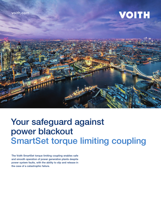 Your safeguard against power blackout | SmartSet torque limiting coupling