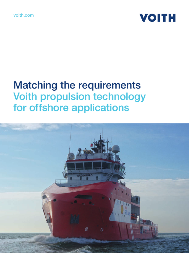 Matching the requirements.  Voith propulsion technology for offshore applications
