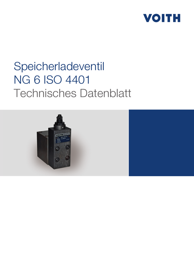 Speicherladenventil NG 6 ISO 4401
