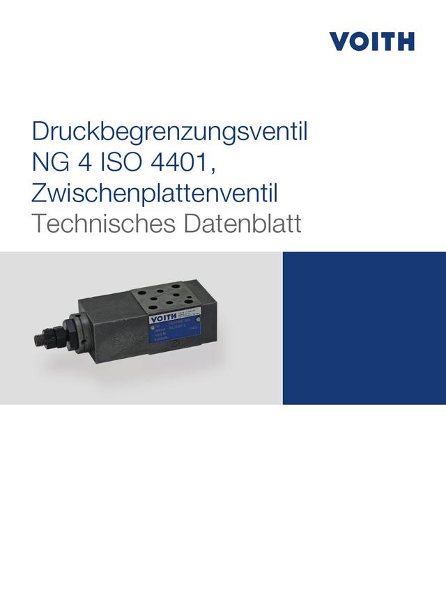 Druckbegrenzungsventil NG 4 ISO 4401, Zwischenplattenventil