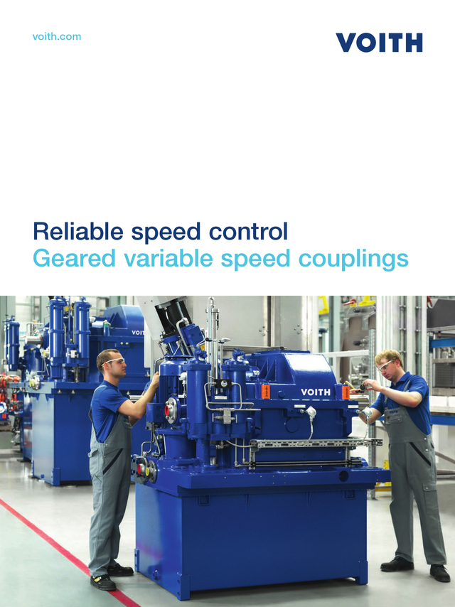 Reliable speed control. Geared variable speed couplings