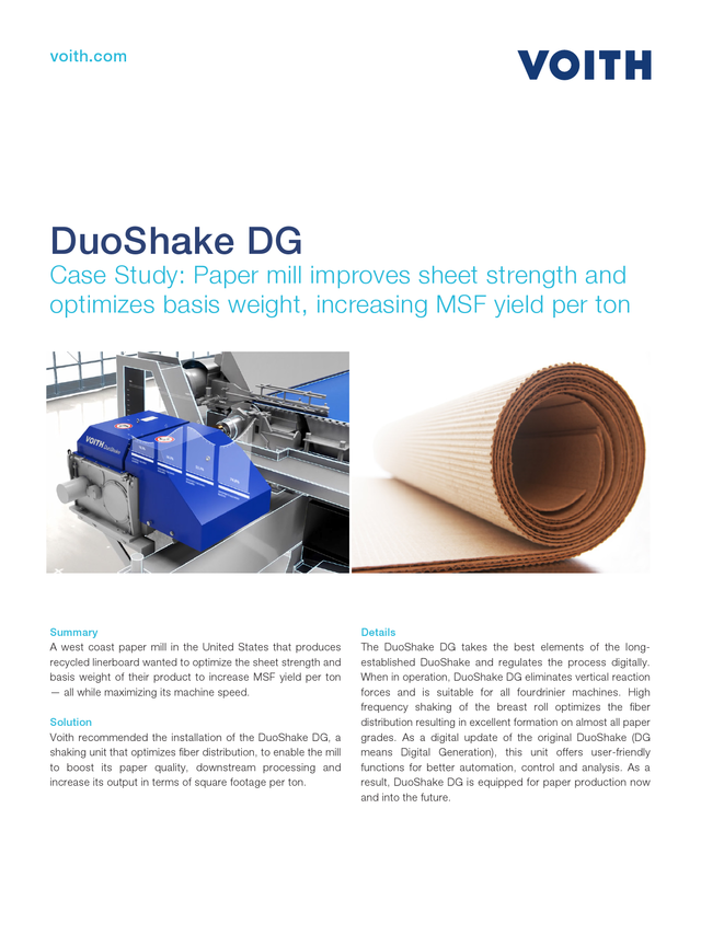 Case Study: Paper mill improves sheet strength and optimizes basis weight, increasing MSF yield per ton