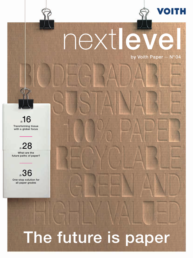 nextlevel, customer magazine by Voith Paper