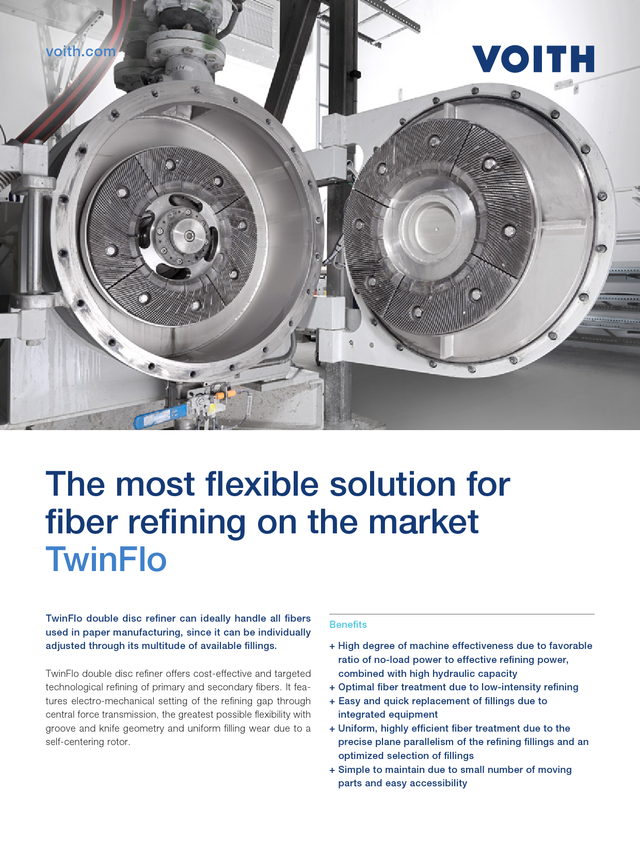 The most flexible solution for fiber refining on the market – TwinFlo