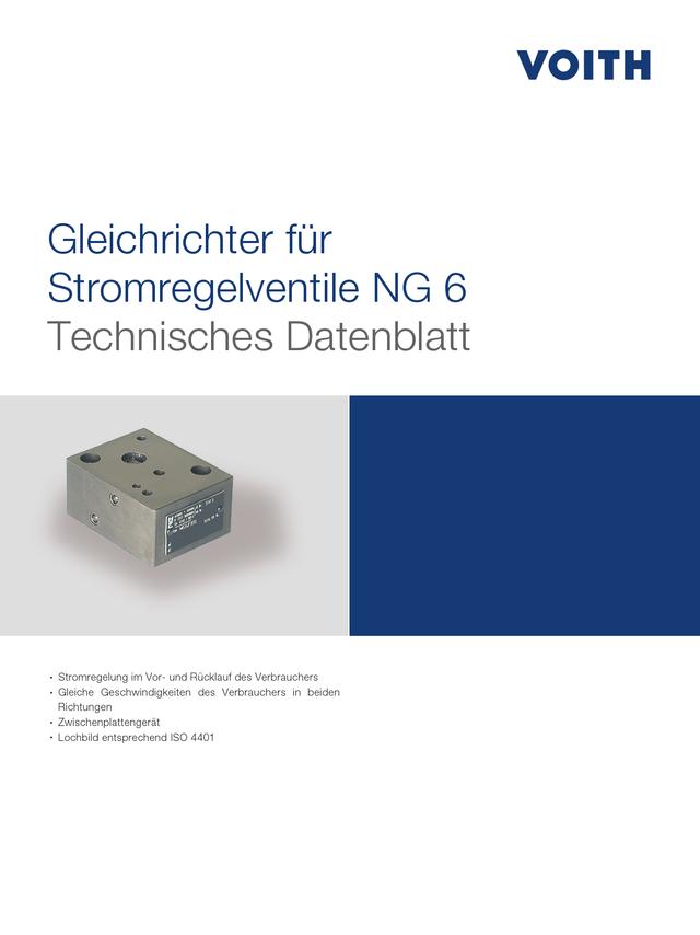Gleichrichter für Stromregelventile NG 6