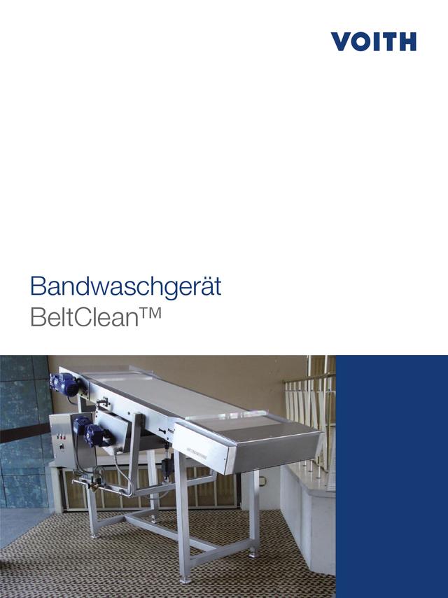 Bandwaschgerät - BeltClean