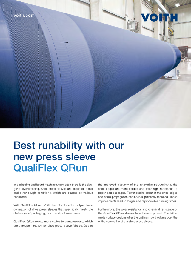 QualiFlex QRun - Best runability with our new press sleeve