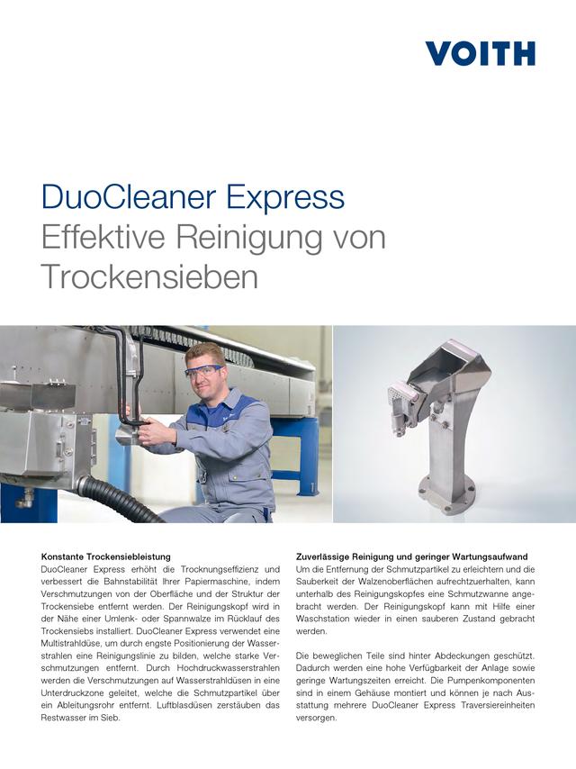 DuoCleaner Express - Effektive Reinigung von - Trockensieben