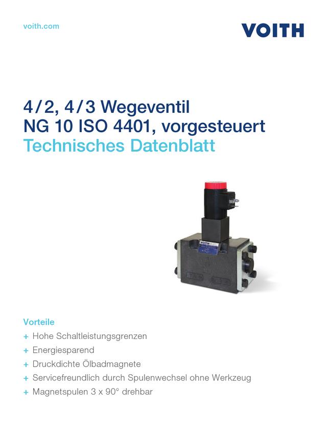 4/2, 4/3 Wegeventil NG 10 ISO 4401, vorgesteuert